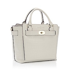 J by Jasper Conran - White Croc-Effect Belted 'Fitzrovia' Grab Bag