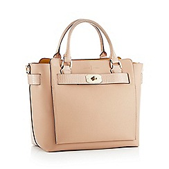 J by Jasper Conran - Natural belted faux leather 'Fitzrovia' grab bag