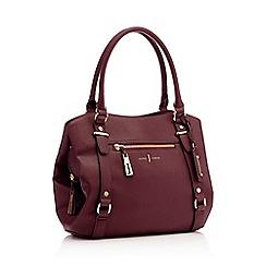 J by Jasper Conran - Wine red zip detail hobo shoulder bag