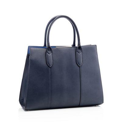 03a0e19429ea Principles Navy faux leather 'Anais' tote bag   Debenhams