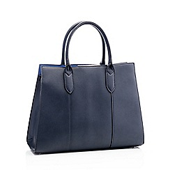 Principles - Navy faux leather 'Anais' tote bag