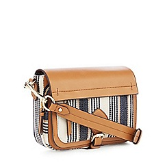 J by Jasper Conran - Multi Woven Stripe 'Strawberry Hill' Cross Body Bag