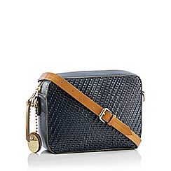 J by Jasper Conran - Navy Weave 'Monaco' Cross Body Bag