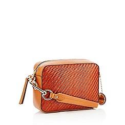 J by Jasper Conran - Tan Woven 'Monaco' Cross Body Bag