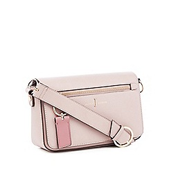 J by Jasper Conran - Pink Grained Faux Leather 'Richmond' Cross Body Bag