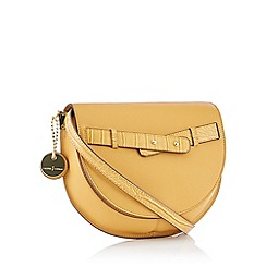 J by Jasper Conran - Mustard Yellow Croc Effect 'Verona' Cross Body Bag