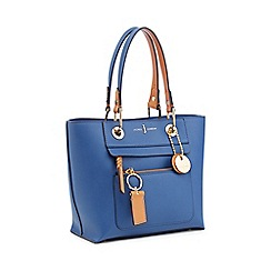 J by Jasper Conran - Blue Grained Faux Leather 'Richmond' Mini Tote Bag