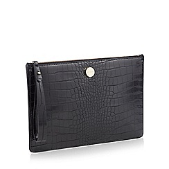 J by Jasper Conran - Black Croc-Effect 'St Germain' Clutch Bag