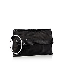 Faith - Black chainmail clutch bag
