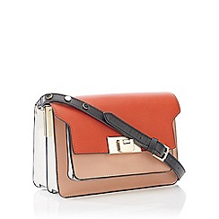 J by Jasper Conran - Red Faux Leather 'Le Marais' Cross Body Bag