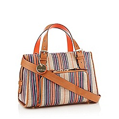J by Jasper Conran - Tan Striped 'Holland Park' Grab Bag