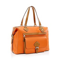 J by Jasper Conran - Orange 'Strawberry Hill' Weekend Bag