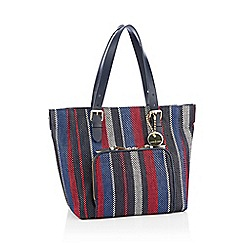J by Jasper Conran - Navy Striped 'Holland Park' Shopper Bag