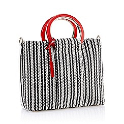 J by Jasper Conran - Black Striped 'Ophelia' Grab Bag