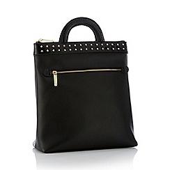 Faith - Black studded zip backpack 5c5986a410