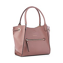 John Rocha Light Pink Front Zip Detail Large Grab Bag