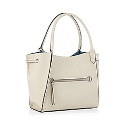 RJR.John Rocha - Beige front zip detail large grab bag