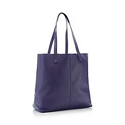 Principles - Blue Unlined Leather Shopper Bag