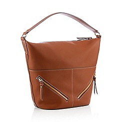 Principles - Tan Faux Leather 'Maria' Hobo Bag