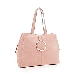 RJR.John Rocha - Light Pink Suede Ring Detail Shopper Bag