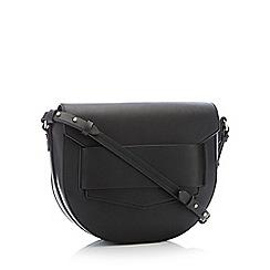 RJR.John Rocha - Black Faux Leather 'Plimlico' Saddle Bag