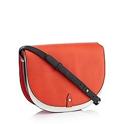 RJR.John Rocha - Red Faux Leather 'Camden' Saddle Bag