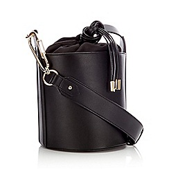 RJR.John Rocha - Black Faux Leather Bucket Duffle Bag