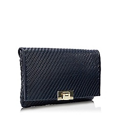 J by Jasper Conran - Navy Weave 'Monaco' Clutch Bag