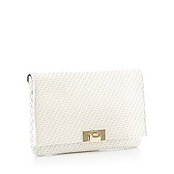 J by Jasper Conran - White Woven 'Monaco' Clutch Bag