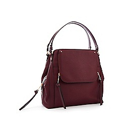 Nine by Savannah Miller - Wine Red Faux Leather 'Sienna' Hobo Bag