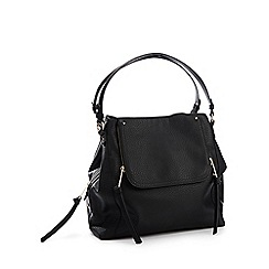 Nine by Savannah Miller - Black Faux Leather 'Sienna' Hobo Bag
