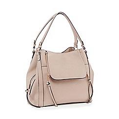 Nine by Savannah Miller - Grey Faux Leather 'Sienna' Hobo Bag