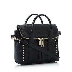 Nine by Savannah Miller - Black Studded Faux Leather 'Honour' Cross-Body Grab Bag