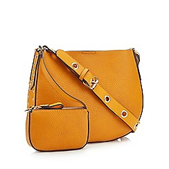 Nine by Savannah Miller - Mustard Eyelet Trim 'Mia' Cross Body Bag