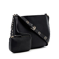 Nine by Savannah Miller - Black Eyelet Trim 'Mia' Cross Body Bag