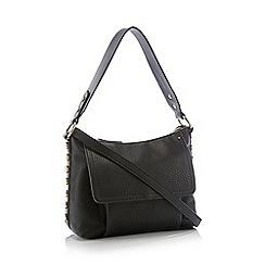 Nine by Savannah Miller - Black Stud Trim 'Gemma' Shoulder Bag