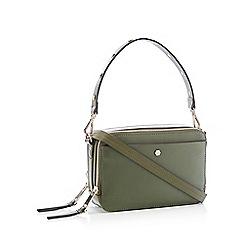 Nine by Savannah Miller - Khaki Green Studded Faux Leather 'Finn' Cross Body Bag