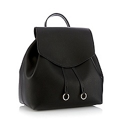 Faith - Black faux leather 'Clean' backpack