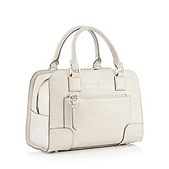 J by Jasper Conran - Grey Stripe 'Madrid' Bowler Bag