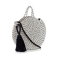 Nine by Savannah Miller - Cream Woven Cotton 'Jayde' Round Grab Bag