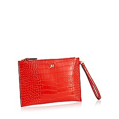 Star by Julien Macdonald - Red Croc Effect 'Bey' Clutch Bag