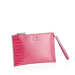 Star by Julien Macdonald - Pink Croc Effect 'Bey' Clutch Bag