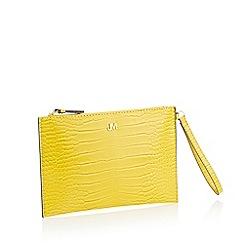 Star by Julien Macdonald - Yellow Croc Effect 'Bey' Clutch Bag