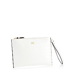 Star by Julien Macdonald - White Croc Effect 'Bey' Clutch Bag
