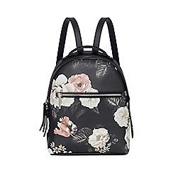 Fiorelli - Black Floral Print 'Anouk' Backpack