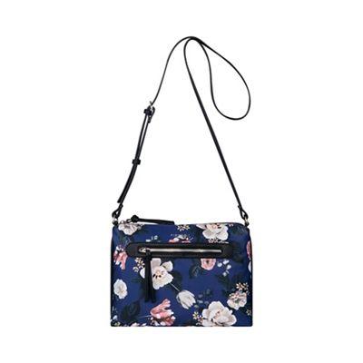 2b6d04ffe2e Fiorelli Navy Floral Print  Paige  East West Crossbody Bag   Debenhams