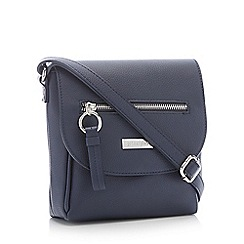 Principles - Navy Front Zip Small Cross Body Bag