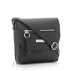 Principles - Black Front Zip Small Cross Body Bag
