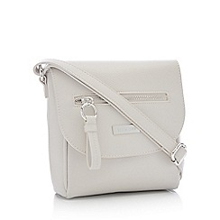 Principles - Grey Front Zip Small Cross Body Bag