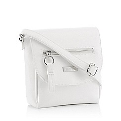 Principles - White Front Zip Cross Body Bag
